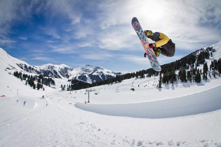 Halfpipe im Snowpark Obereggen