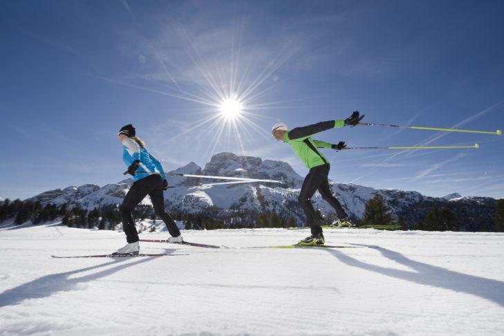 Im Skigebiet Drei Zinnen Dolomiten finden Langläufer ein wahres Eldorado vor.
