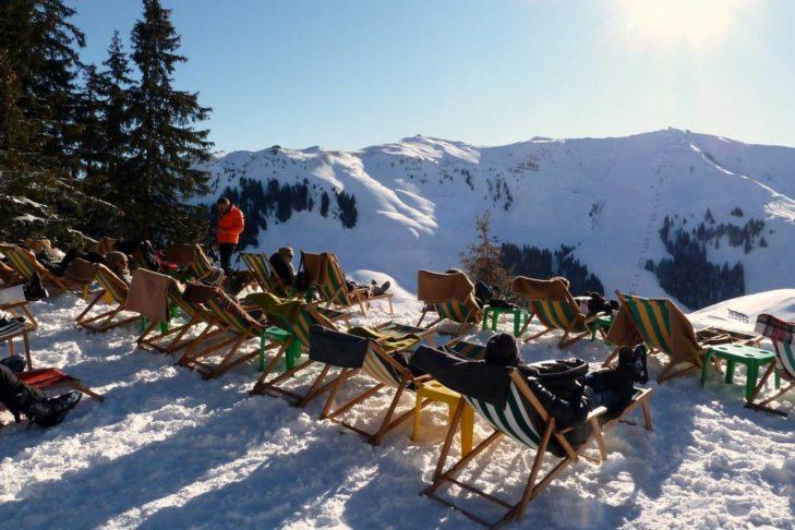 Entspannen mit Blick auf die Kitzbüheler Alpen.