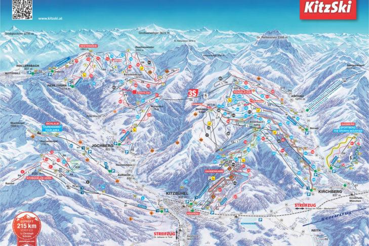 Kitzbuheler Alps Piste Map