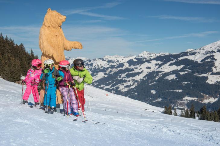 Im Skigebiet Kitzbühel kommen auch die Kleinsten nicht zu kurz.