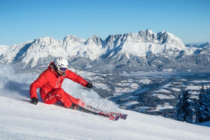 Im Skigebiet Kitzbühel warten 179 Kilometer Pistenvergnügen.