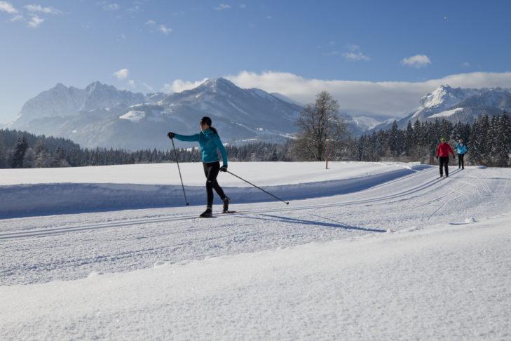 Klassische Spur nebst Skating-Strecke in der Langlaufregion Kaiserwinkl.