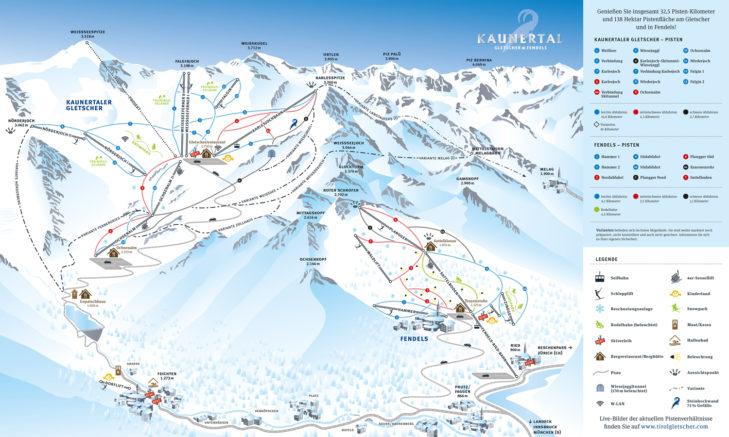 Pistenplan Kaunertaler Gletscher