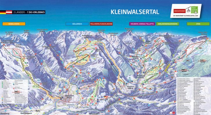 Pistenplan Oberstdorf & Kleinwalsertal