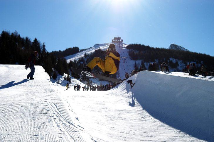 Wer Action mag, der vergnügt sich im Snowpark Monte Bondone.