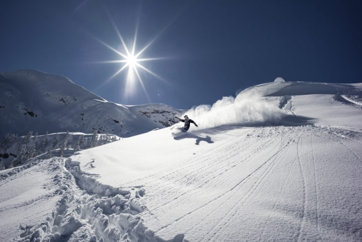 Freerider im Skigebiet Nassfeld-Pressegger See.