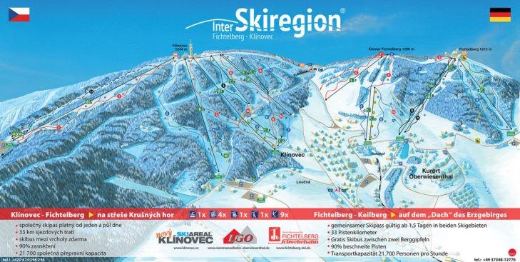 Fichtelberg / Klínovec trail map
