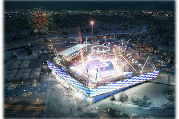 Im neu erbauten Olympia-Stadion finden die Eröffnungs- und Abschlusszeremonie statt.