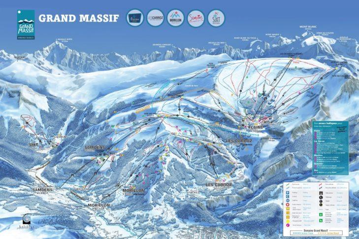 Pistenplan Grand Massif