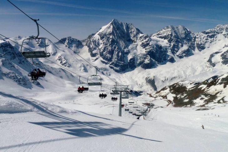 Im Skigebiet Sulden bietet sich ein tolles Bergpanorama.