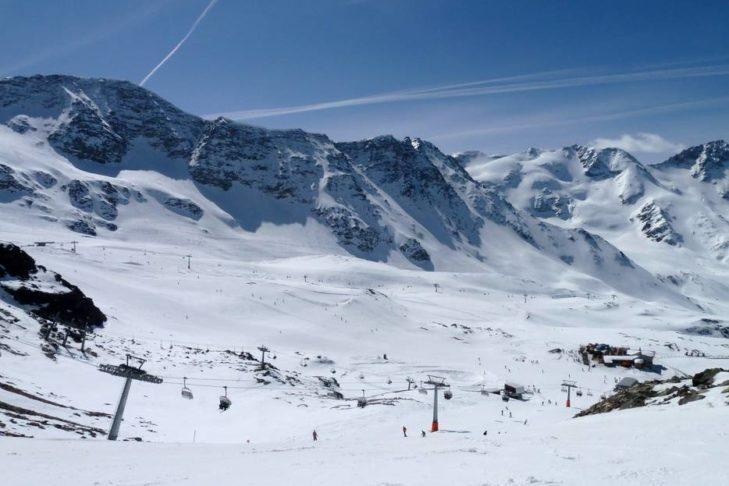 Das Skigebiet Sulden befindet sich in einer eindrucksvollen Lage im Nationalpark Stilfser Joch.
