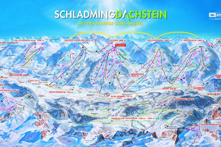 Pistenplan Schladming-Dachstein