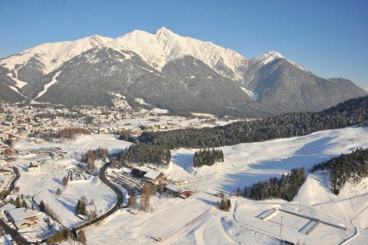 Im unteren Pistenbereich haben Kinder viel Platz zum Skifahren lernen.