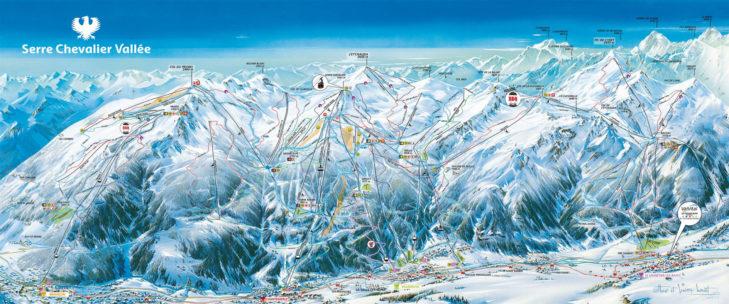 Serre Chevalier ski area map