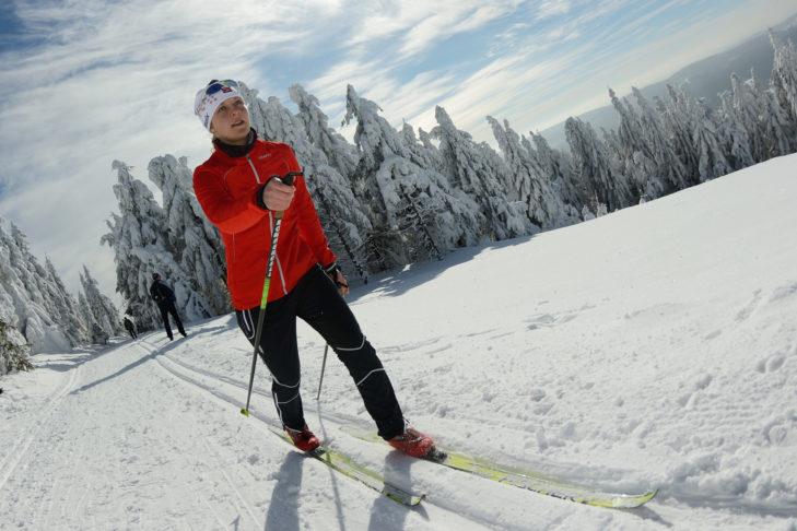 In Thüringen und speziell um Oberhof und Suhl können sich Nordic-Sportler auf zahlreichen Loipen austoben.