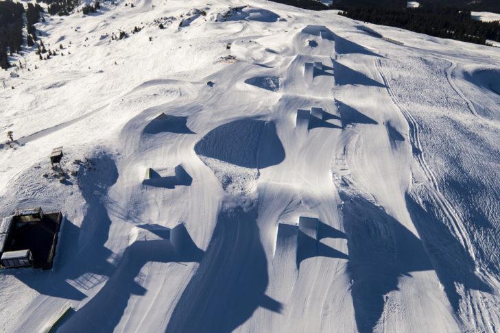 Laax gilt auch als Mekka für Snowboarder.