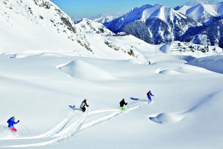 Freerider im Skigebiet Gastein.