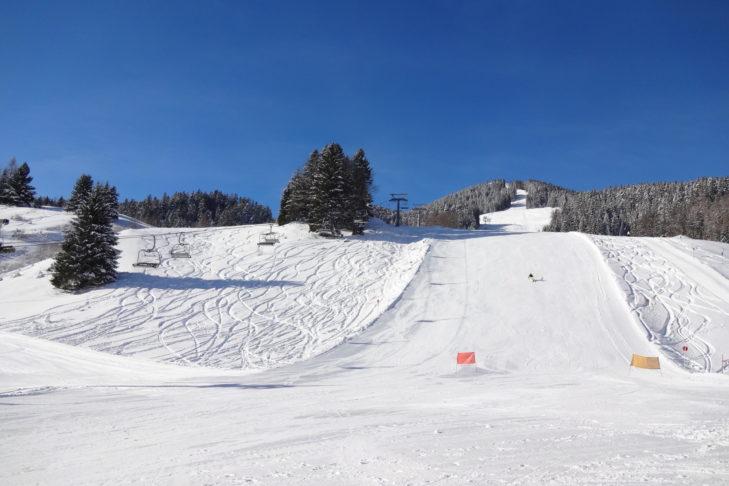 Skigebiet Brandnertal: Die sanften, breiten Hänge sind ideal für Einsteiger.