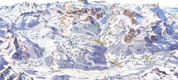Pistenplan Skigebiet Alta Badia