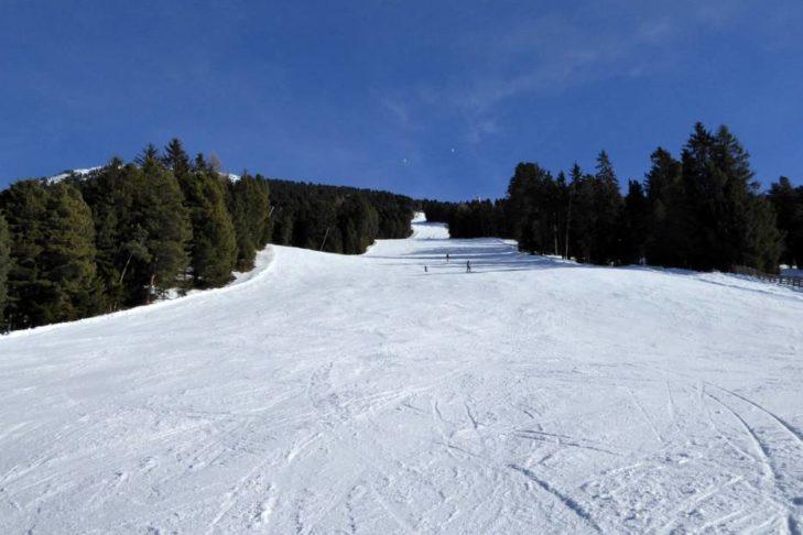 Die Trametsch an der Plose ist die längste Talabfahrt Südtirols.