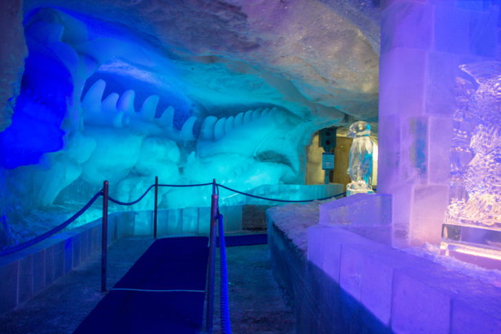 Im Eispavillon werden Gletscher-Geheimnisse gelüftet.