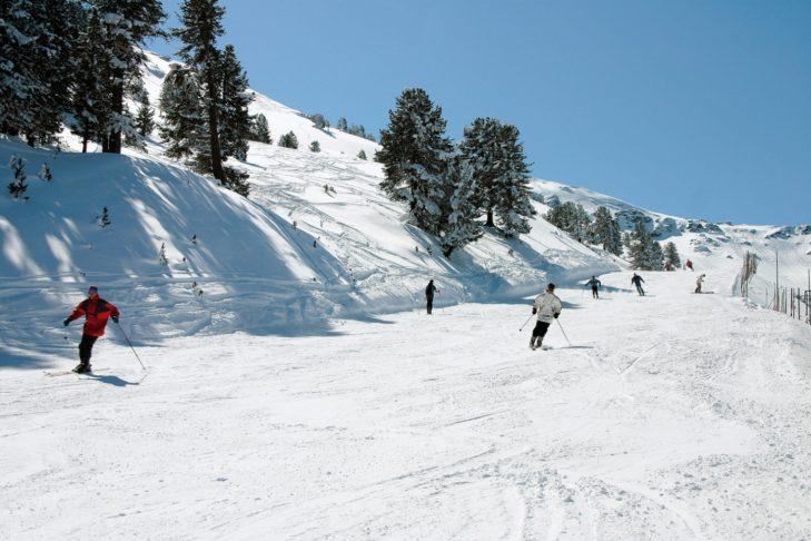 Idealer Pistenbelag im Skigebiet Glungezer.