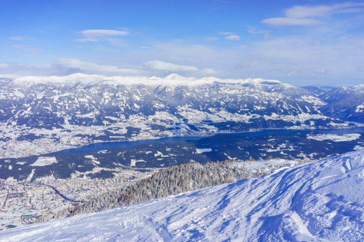 Panorama vom Goldeck Richtung Millstätter See.