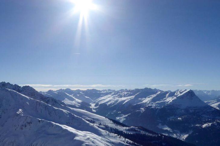Traumhafte Bergwelt rund um den Reschenpass.