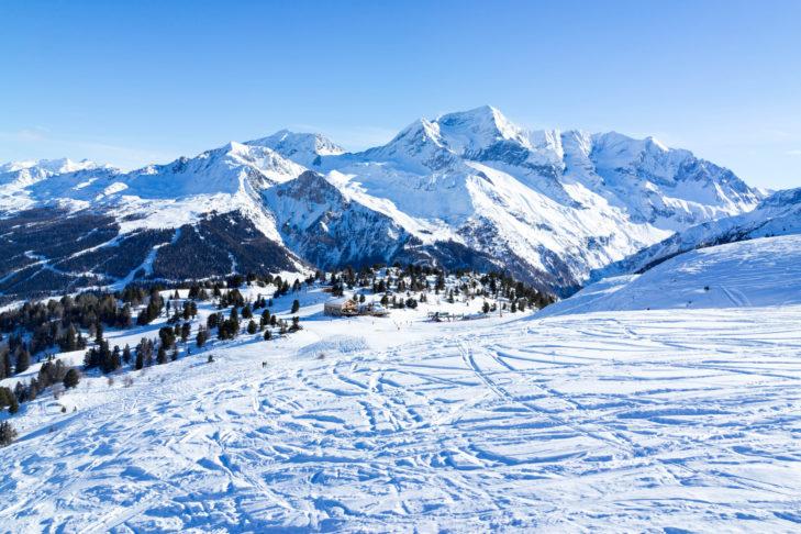 Herrliche Waldabfahrten in der Skiregion Paradiski.