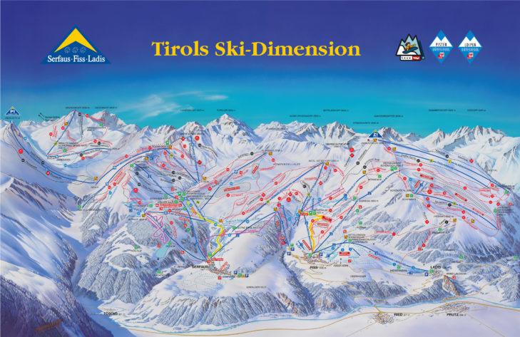 Serfaus-Fiss-Ladis piste map