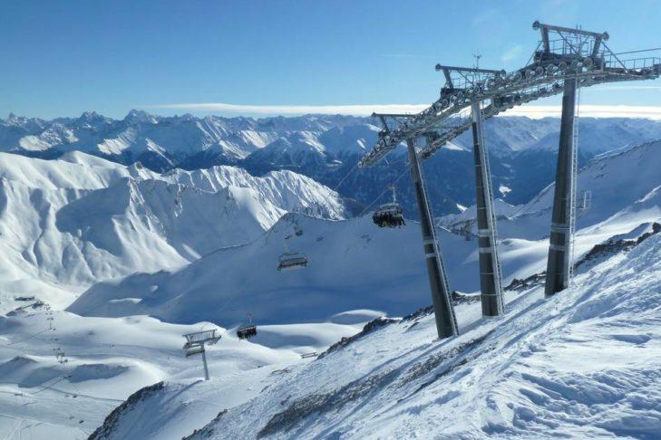 Das Skigebiet Serfaus-Fiss-Ladis bietet Skispaß auf auf 214 Pistenkilometern.