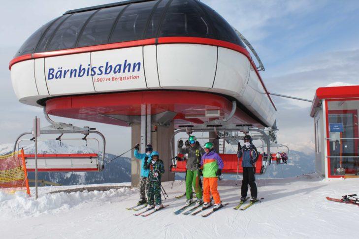 Bergstation der Bärnbissbahn im Skigebiet Goldeck.