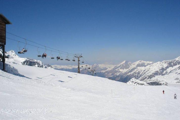 Skigebiet Weißsee Gletscherwelt: Tolle Ausblicke bei guter Sicht.