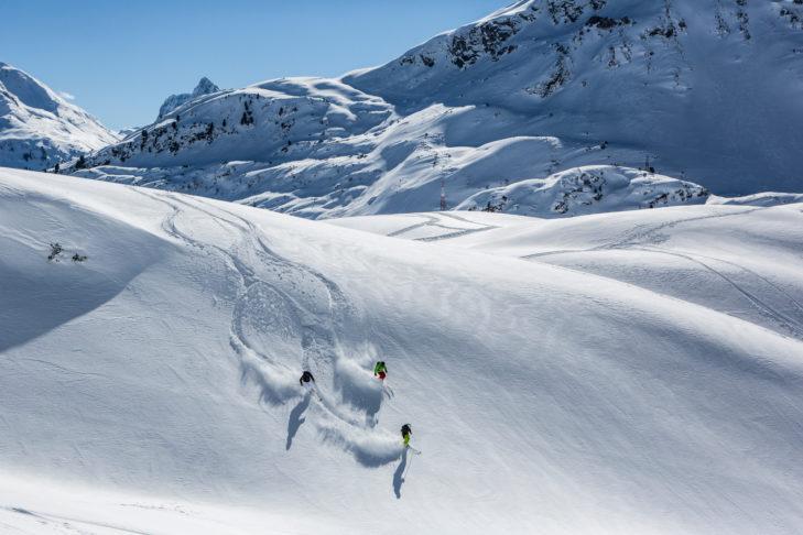 Freerider im Skigebiet Venet.
