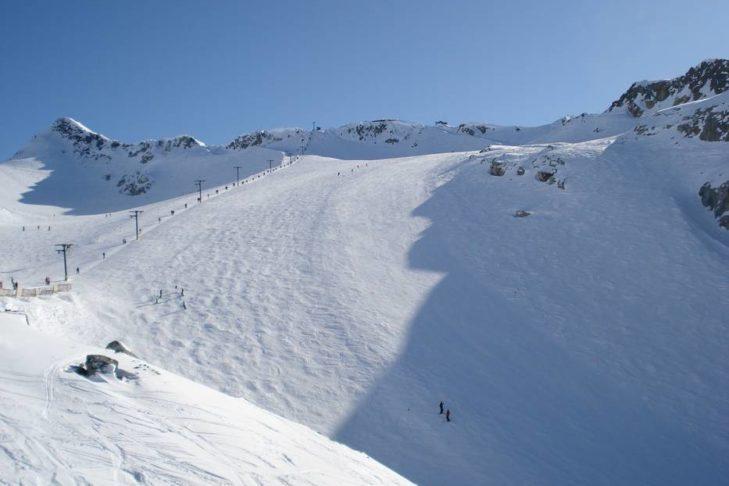 Breite Pisten in Whistler-Blackcomb laden zu großen Schwüngen ein.