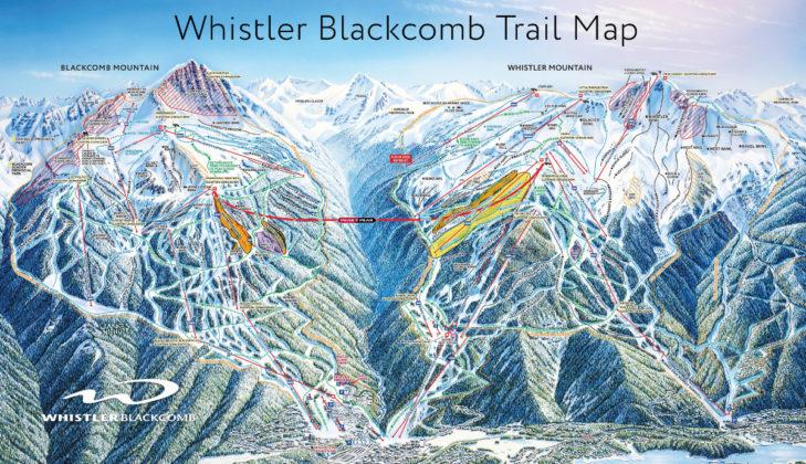 Pistenplan Whistler-Blackcomb