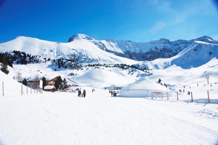 Ein Traum in Weiß erwartet Wintersportler in Adelboden-Lenk.