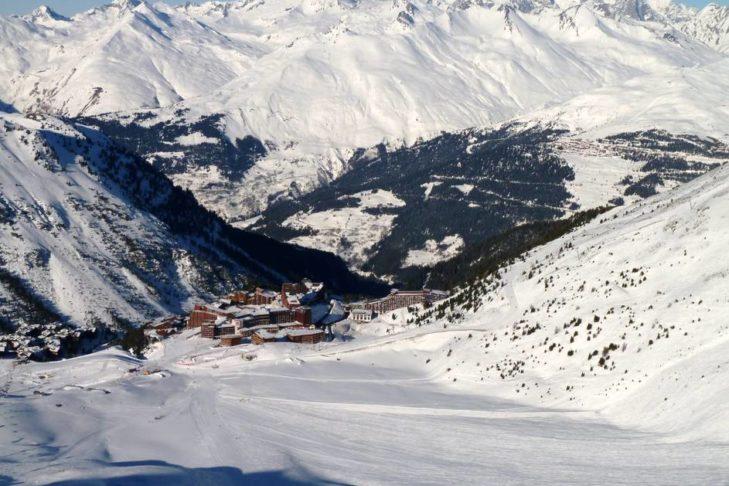 Blick auf Les Arcs.