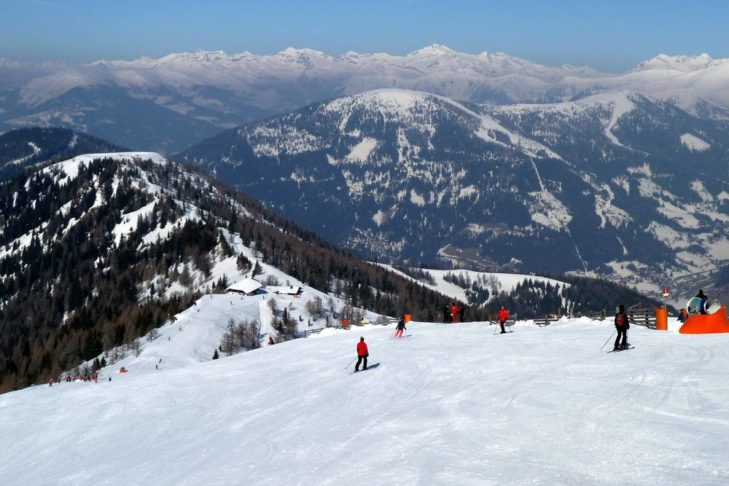 Weite Blicke vom Skigebiet Bad Kleinkirchheim/St. Oswald aus.