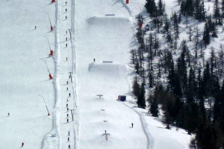 Die Funslope im Skigebiet Bad Kleinkirchheim/St. Oswald sorgt für Action.