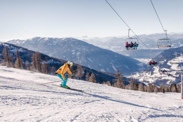 Inmitten des Nationalparks Nockberge in Kärnten wartet das Skigebiet Bad Kleinkirchheim/St. Oswald.