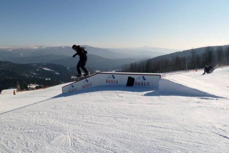 Freestyler im Skigebiet Silberberg.