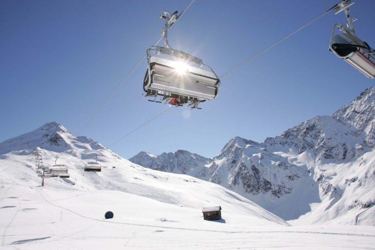 Sesselllift im Skigebiet Brunnalm bei St. Jakob i. D.