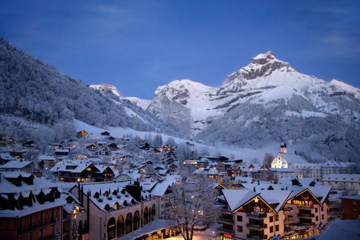 Skigebiet Engelberg: Blick übers Tal.