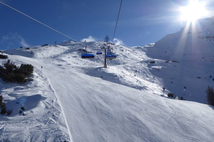 Blick auf die Piste: Das Skigebiet Schlick 2000 ist ein beliebtes Urlaubsziel.