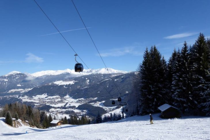 Das Skigebiet Schlick 2000 ist bis zu 2.240 m hoch.