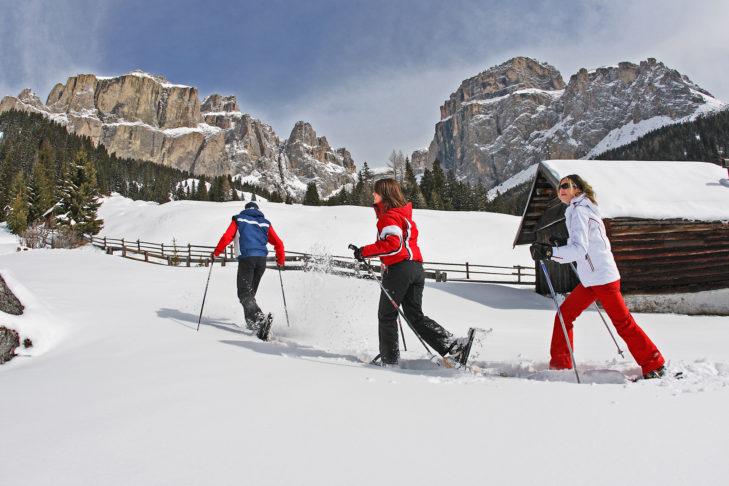 Im Gebiet Alpe Lusia-San Pellegrino lässt es sich auch gut schneeschuhwandern.