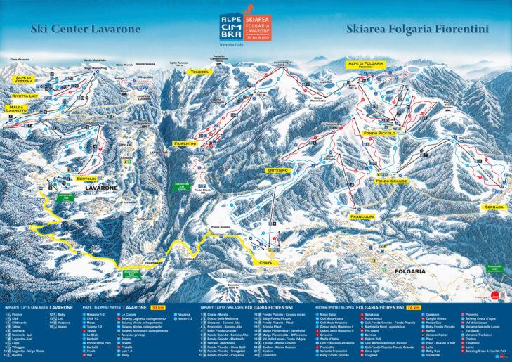Pistenplan Skigebiet Folgaria-Lavarone