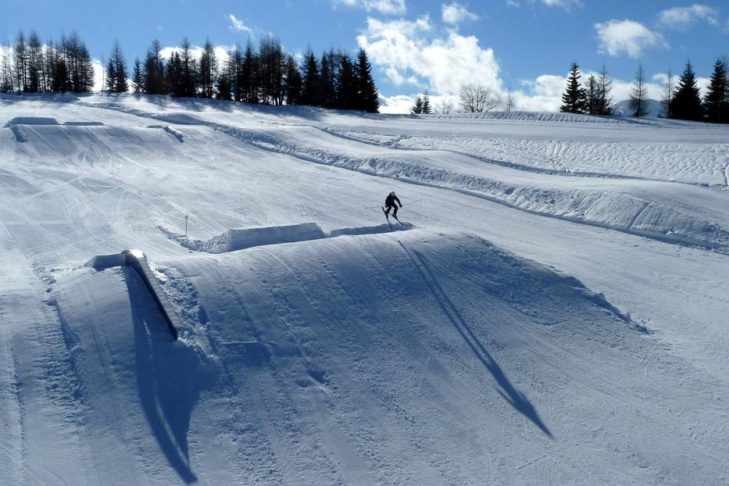 Kicker-Line im Prinze Snowpark.